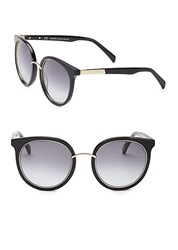 Balmain 51Mm Round Sunglasses Black Grey