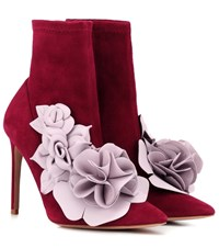 Sophia Webster Exclusive To Mytheresa Jumbo Lilico Suede And Leather Ankle Boots Purple