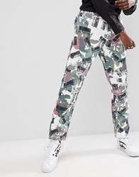 Billionaire Boys Club Trouser In All Over Floral Print Beige
