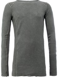 Masnada Fitted Top Men Cotton Polyester 48 Grey