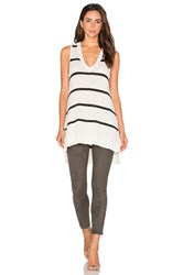 Lamade Kiera Tunic Tank Black And White