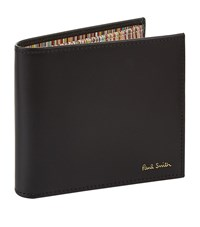 Paul Smith Internal Stripe Billfold Unisex Black