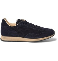 Officine Creative Keino Perforated Suede Sneakers Blue