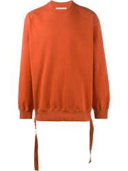 John Lawrence Sullivan Side Strap Sweatshirt Yellow Orange