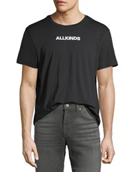 7 For All Mankind Men's Allkinds Graphic Cotton T Shirt Black