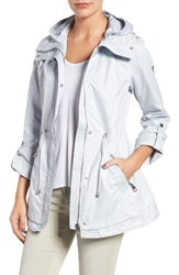 Guess Women's City Roll Sleeve Anorak Pastel Blue