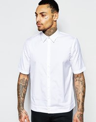 Diesel Shirt S Mak Short Sleeve Boxy Fit In White White