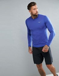 Saucony Running Freedom Long Sleeve Top In Purple Sam800018 Lak Purple