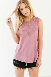 Truly Madly Deeply Astro Delia A Line Muscle Tee Mauve