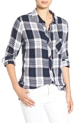 Rails Women's 'Hunter' Plaid Shirt White Navy Forest