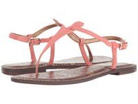 Sam Edelman Gigi Peach Blossom Kid Suede Leather Women's Sandals Orange