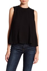 Abs By Allen Schwartz Chiffon Pleated Blouse Black