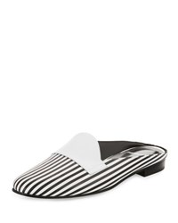 Pierre Hardy Jacno Printed Leather Loafer Mule Multi Black White