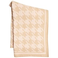 Marc Cain Dogstooth Large Knitted Scarf Camel Pink
