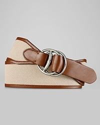 Lauren Ralph Lauren Belt Canvas With Equestrian D Rings Lino Lauren Tan