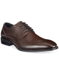 Alfani Men's Spence Saffiano Lace Up Oxfords Only At Macy's Men's Shoes Brown
