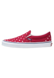 Vans Classic Slipons Red Blue