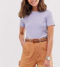 Glamorous Brown Suede Waist And Hip Jeans Belt With Resin Buckle Clear
