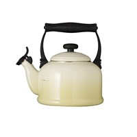 Le Creuset Traditional Enamel Kettle Almond