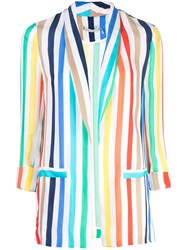 Alice Olivia Striped Blazer Multicolour