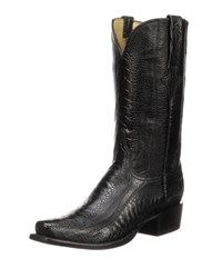 Lucchese Anderson Ostrich Cowboy Boots Black