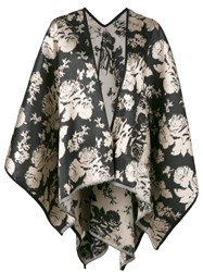 Ermanno Gallamini Tiger Print Waterfall Hem Jacket Women Silk Polyamide One Size Black
