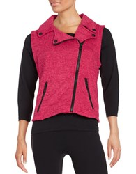 Calvin Klein Knit Motorcycle Performance Vest Red