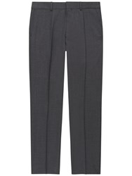Jaeger Wool Basketweave Modern Fit Suit Trousers Grey