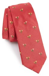 Paul Smith Men's Embroidered Floral Bouquet Silk Tie