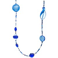 Martick Galaxy Murano Glass And Crystal Long Necklace Ink Turquoise
