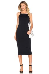 David Lerner Low Back Midi Dress Black