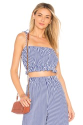 Mds Stripes Taylor Cropped Cami Blue