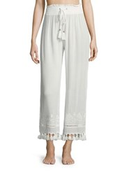 Parker Cabo Embroidered Pants Ivory