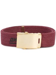Gosha Rubchinskiy Dj Printed Belt Red