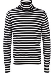 Paul Smith Ps By Striped Turtleneck Jumper Black