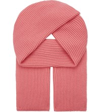 Johnstons Ribbed Cashmere Scarf Queen