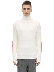Lc23 Vulcano Merino Wool And Acrylic Sweater White