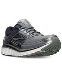 Brooks Men's Glycerin 14 Running Sneakers From Finish Line Primer Gray Peacoat Navy