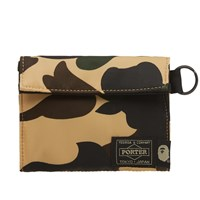 A Bathing Ape X Porter 1St Camo Wallet Yellow