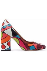 Red Valentino Printed Leather Pumps Multicolor