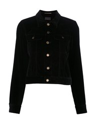 Saint Laurent Musical Note Studded Velvet Jacket Black