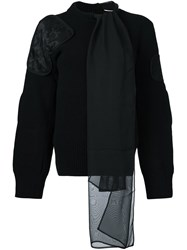 Sacai Tie Collar Jumper Black