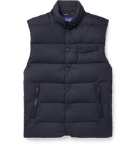 Ralph Lauren Purple Label Quilted Shell Down Gilet Blue