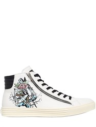 Hogan Rebel Tattoo Printed Leather High Top Sneakers