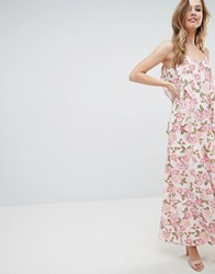 Oh My Love Cami Maxi Dress With Frill Detail Multi