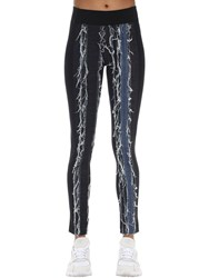 No Ka' Oi Patchwork Front Stretch Techno Leggings 62