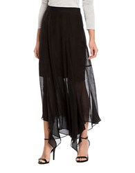 Nic Zoe Solid Handkerchief Hem Skirt Black