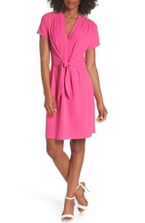Felicity And Coco Tie Front Sheath Dress Hot Pink
