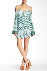 Voom By Joy Han Cameron Cold Shoulder Dress Green