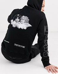 Fiorucci Hoodie In Black With Back Print